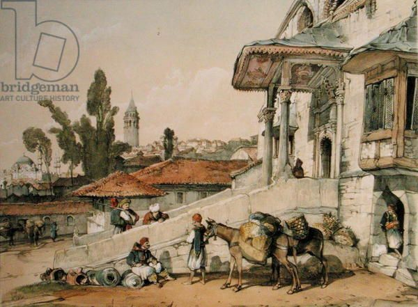 View of the District of Galata, early 1800s - John Frederick Lewis