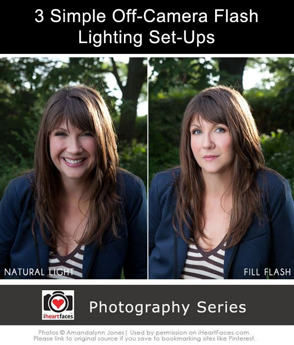 3 Simple Off-Camera Flash Lighting Set-Ups. Great #photography tips!