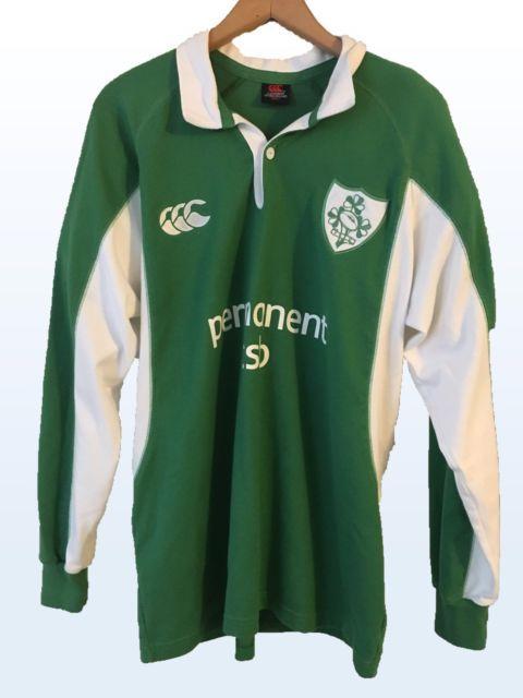 IRFU Permanent TSB Irish Rugby Jersey Shirt Ireland Green Size Large Canterbury | eBay