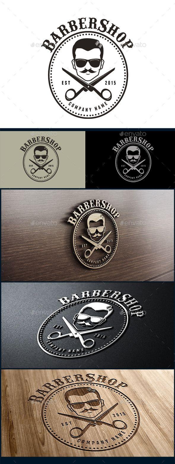 Barbershop Logo — Photoshop PSD #hotrod #70s • Available here → https://graphicriver.net/item/barbershop-logo/10396316?ref=pxcr