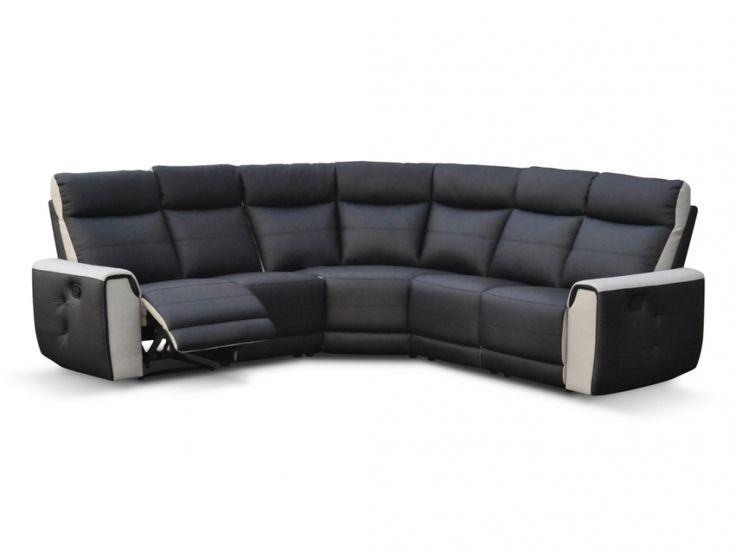 Canapé d'angle relax XXL en simili COLOMINE - Noir prix promo Unique 1 199.99 € TTC prix constaté de 1 299 €