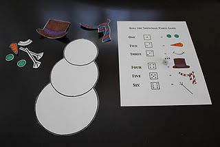 build a snowman game - I use this activity for articulation, phono, and language therapy. Older kids use the dice to build....younger just get a part of their snowman after their reps.
