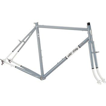 All-City Space Horse Framekit - silver/white