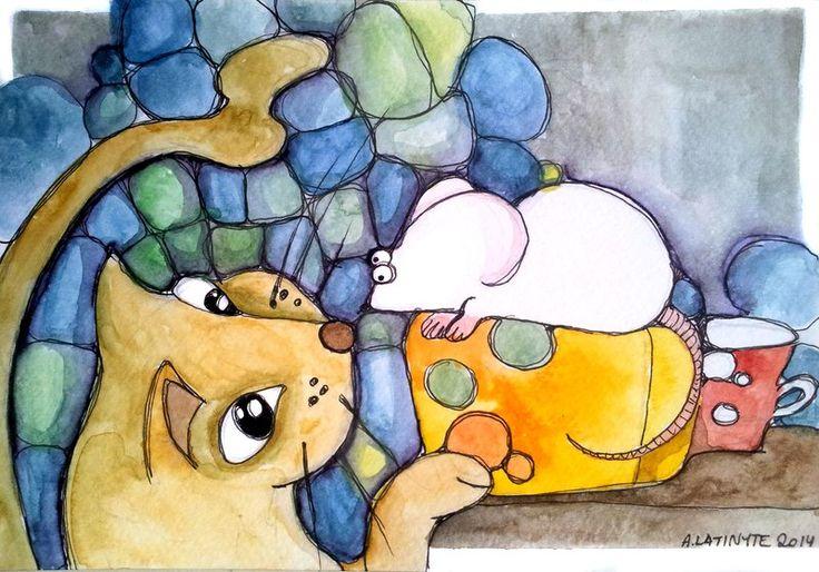 The cat's curiosity by Yuujin on deviantART