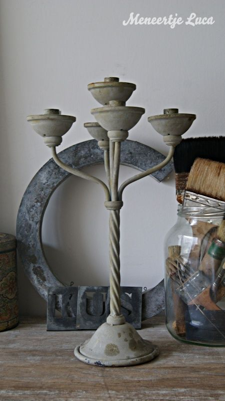 Oude kandelaar/ Old candlestick | Tough vintage | meneertjeluca