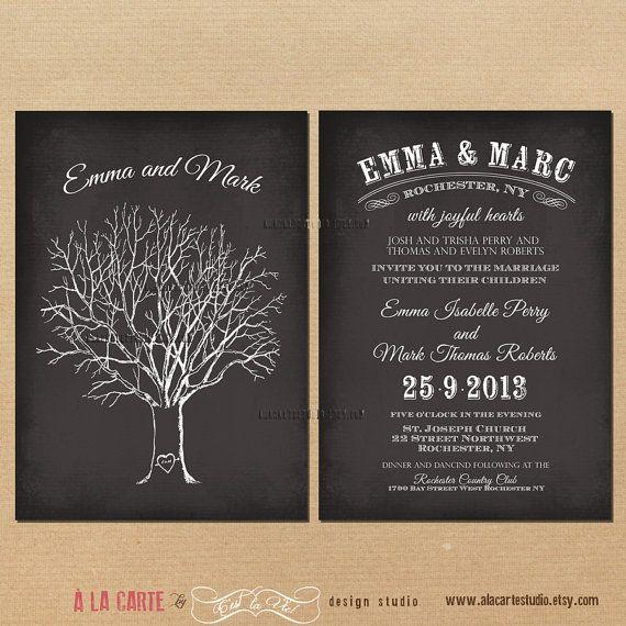 12 best wedding invitations images on Pinterest Invites - best of wedding invitation card ideas pinterest
