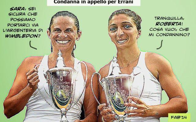 """Condanna Errani: """"Ah, dovevamo restituirle le coppe di Wimbledon?"""" #errani #wimbledon #condanna #sport"""