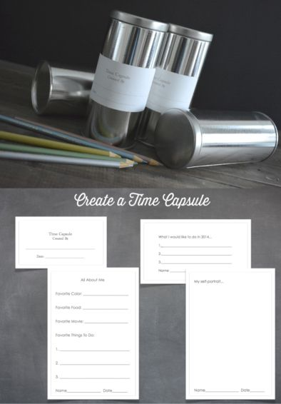 Capture the Year with a Time Capsule + Printables