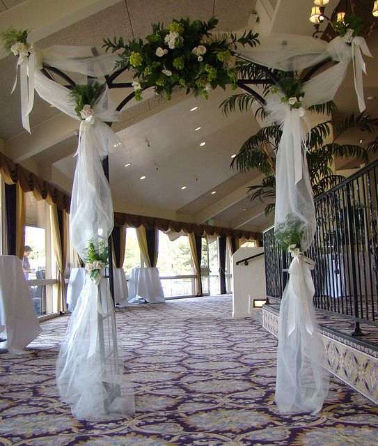 Bridal Arch Ideas: 16 Best Tulle Draping Images On Pinterest