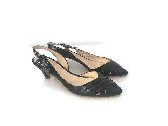 Kitten Heel Shoes Kitten Heel Patent Black Shoes Kitten Heel Black Shoes Black Patent Pumps Kitten Heels Shoes Eu 37 Usa 6 Uk 4 Di Moda Moda