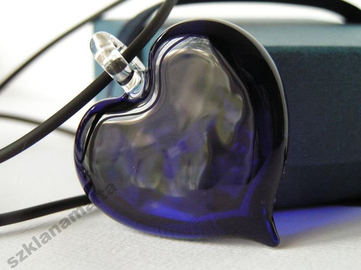 Wisiorek szklane serce Mdina Glass Malta