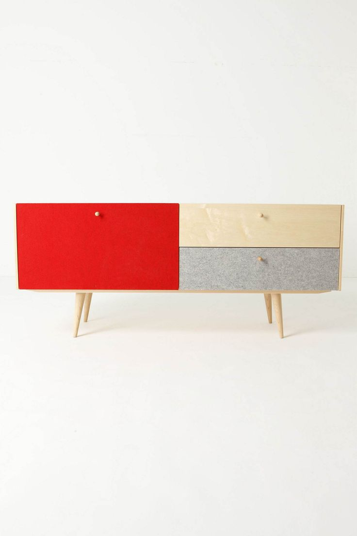 .: Consoles Tables, Design Interiors, Iannon Design, Midcentury Consoles, Chroma Consoles, Design Rooms, Design Home, Blondes Wood, Colors Blocks