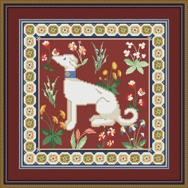 Подушка Средневековая собака в ДМС