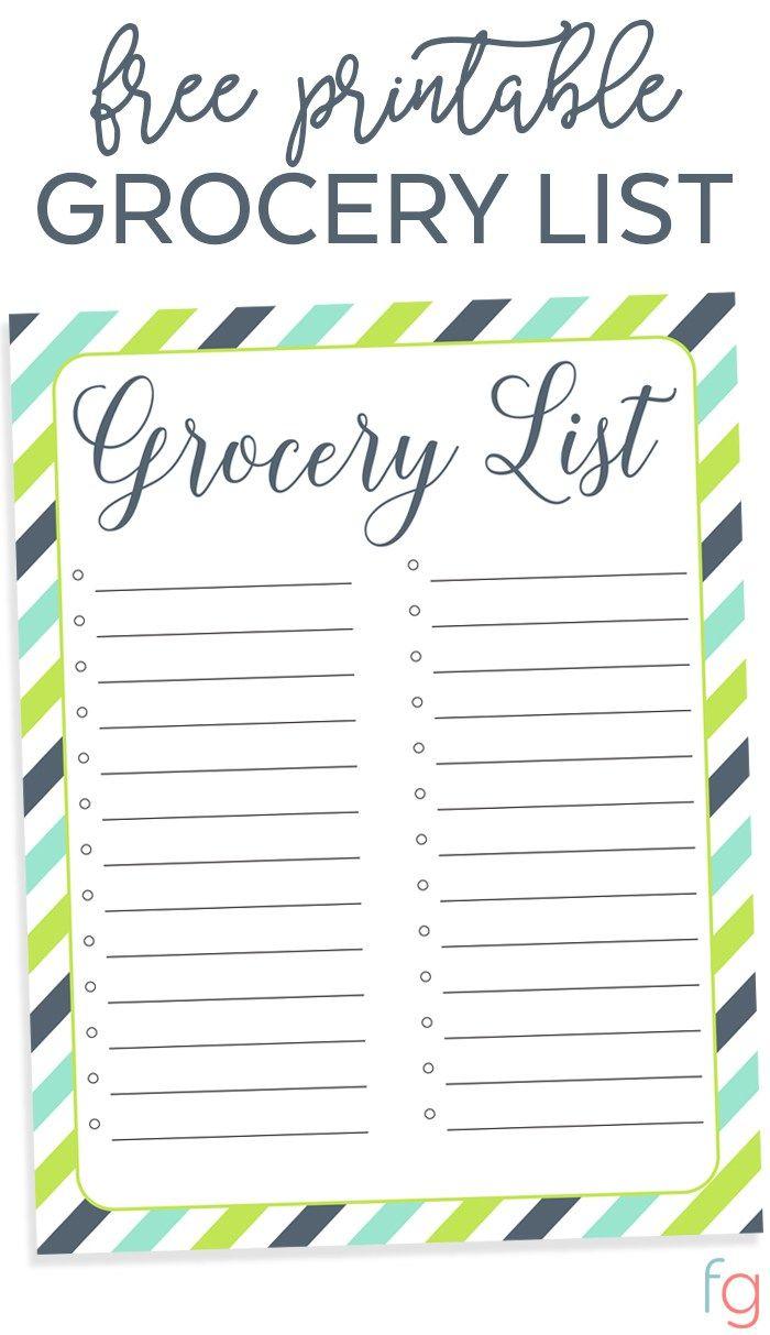 17 best ideas about Grocery List Templates – Template List