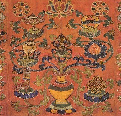 Quali sono gli Otto Simboli di Buon Auspicio nel Buddhismo, soprattutto in quello Tibetano? Storia, analisi e significato di questi potenti talismani.