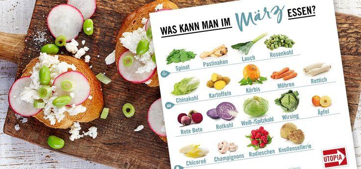 In unserem Saisonkalender für März erfahrt ihr, welches Obst und Gemüse ihr gerade aus heimischem Anbau bekommt: Spinat, Radieschen, Rosenkohl und mehr.