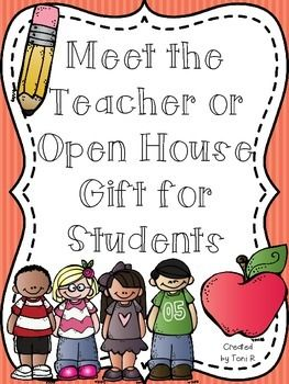 Open House and Meet the Teacher Gift for Students
