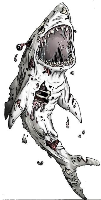 Zombie Shark Tattoo Sample