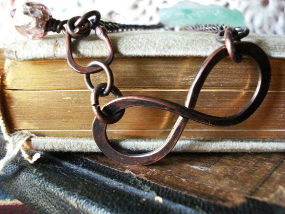 Large Copper Patina Infinity to Eternity by PendragonJewelry, $32.00