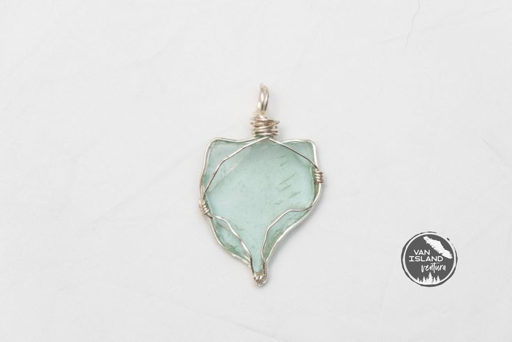 Seafoam Beach Glass  Pendant #23 - 49 mm tall 29 mm wide Sea Glass Pendant - Shipping is on Us at Everything Vintage by EverythingVintageBC on Etsy