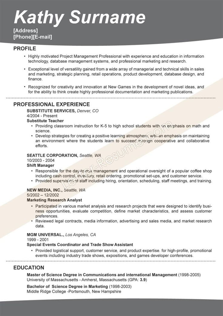 the best resume template ideas templates for microsoft word google docs in english