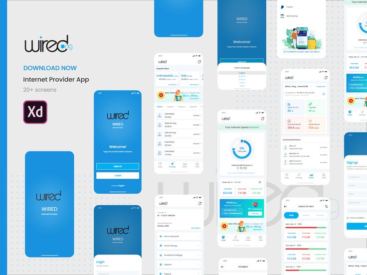 Wired Internet Provider App Concept Internet Providers Music App Application Iphone