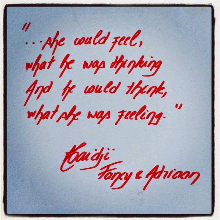 Haidji: Fancy & Adriaan - Haidji - Book Quote - Feeling - ...