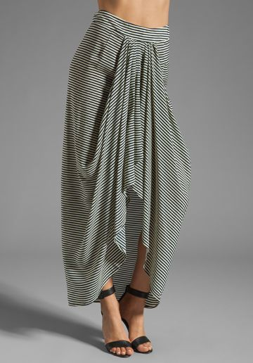 LOVERS + FRIENDS x BECAUSE IM ADDICTED Parisian Skirt in Stripe at Revolve Clothing - Free Shipping!