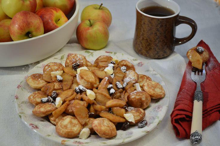 Winters recept van de week: Gesuikerde JAN poffertjes met rozijnen. Kijk voor het recept hier http://www.janpannenkoeken.nl/poffertjes-met-gesuikerde-appel