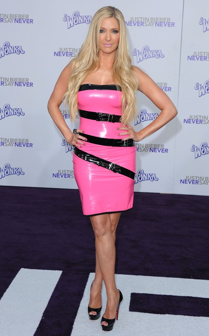 Erika Jayne in latex at LA premiere of Justin Bieber ...
