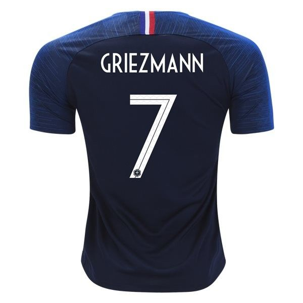 innovative design bd28d da77b 2018 World Cup France Home Soccer Jersey Antoine Griezmann 7 ...