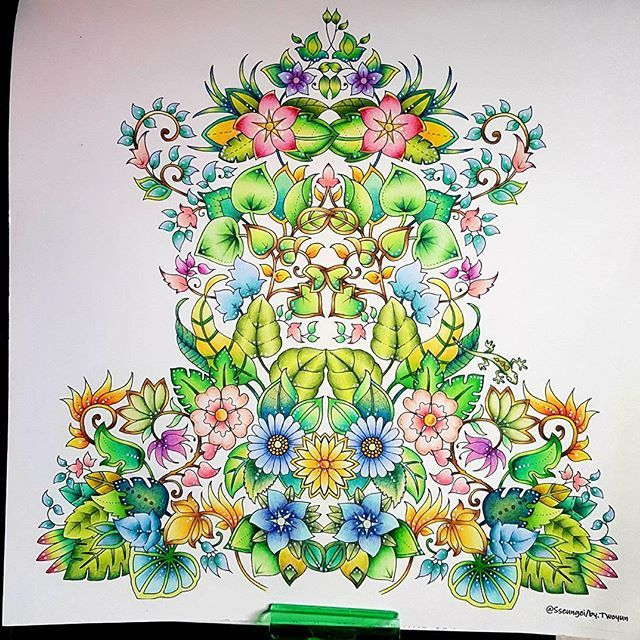 coloring books for adults finished 17 best magical jungle johanna basford images on