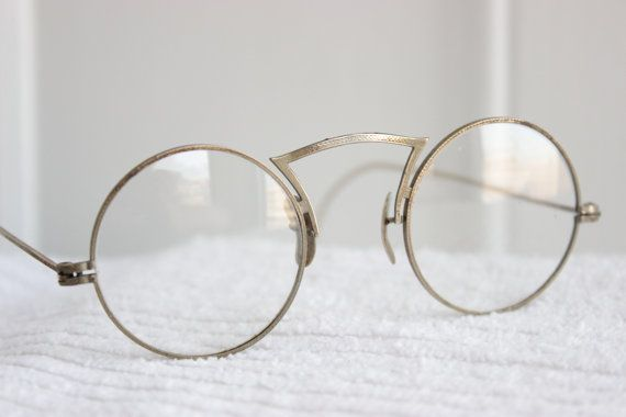 30s round glasses 1920s eyeglasses silver wire by thayereyewear 8900 vintage stuff i like pinterest eyeglasses wire and round glass
