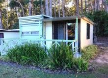 On site caravan for sale at Durras North