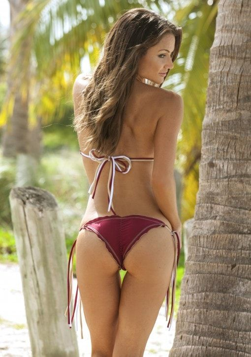 Go Seminoles! Root for your team in this adorable little FSU inspired triple string bikini. The perfect gift for sports fanatics, FSU Alumni, or sorority.