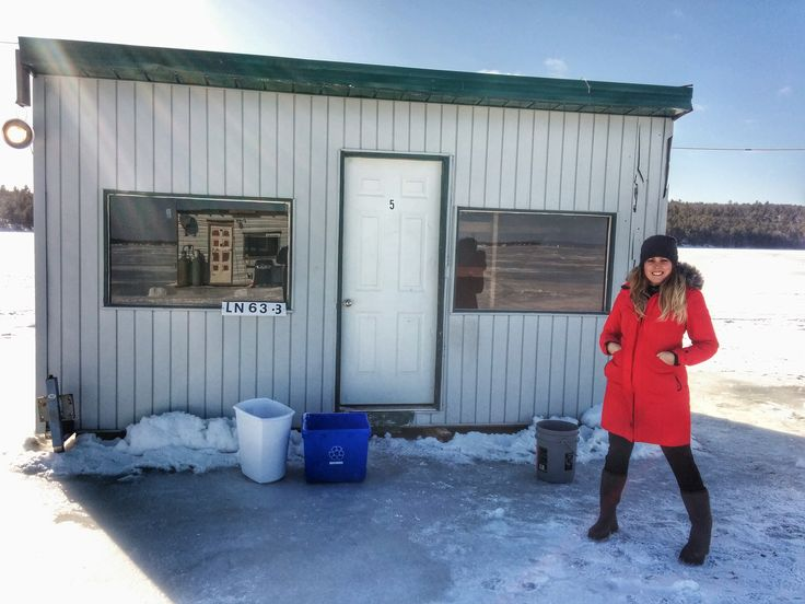 Ashley Rae has her first perch and walleye filled ice bungalow experience on Lake Nipissing at Fish Bay Marina.