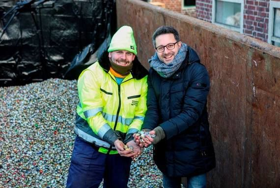 Carsten Frederik Buchert (Felix Burda Stiftung) und Weltrekordhalter Ingo Petermeier