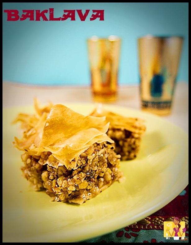 Baklava, visto en el blog de Nuves de sabores #recetas #nestlebloggers