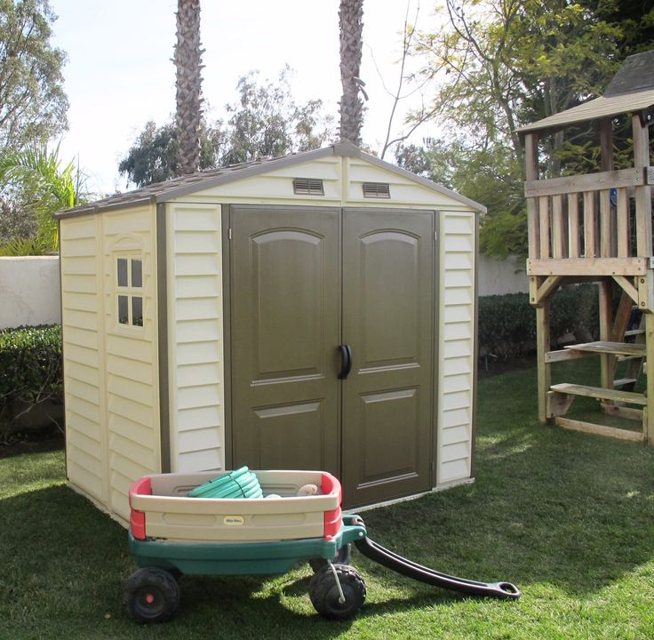 Woodside StoreAll 8x6 Vinyl Duramax Shed with Foundation