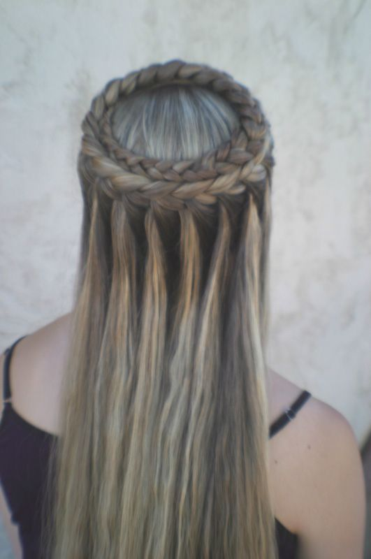 crown waterfall braided hairstyle inspiration Unique Hairstyles ...