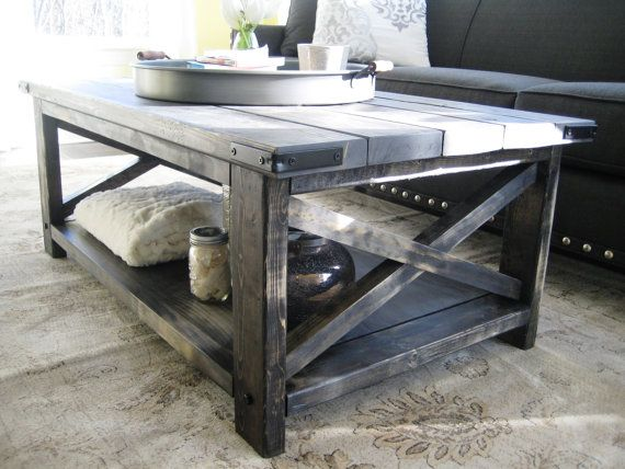 Rustic X Distressed Handmade Coffee Table by MadeInAldie on Etsy