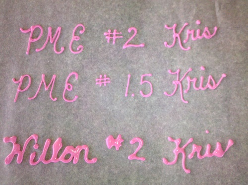 Karen'sCookieBlog - difference between PME & Wilton tips
