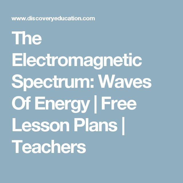 Electromagnetic spectrum lesson middle school