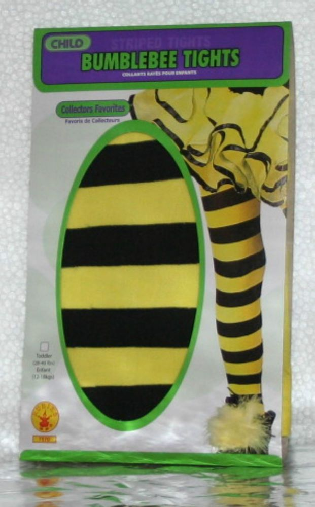 Toddler Bumble Bee Tights yellow black stripe infant child insect baby kid girl #Rubies