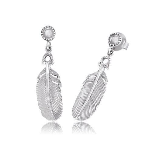 Örhängen fjädrar silver