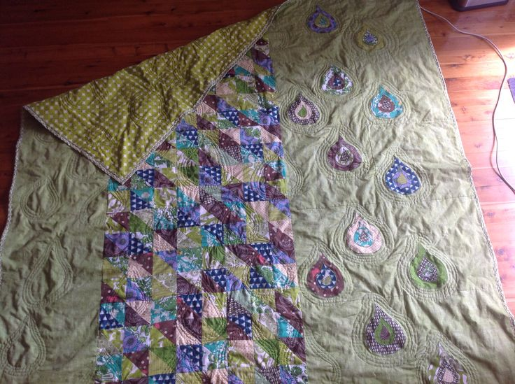 Cas and Loz quilt green and purple