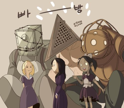 livian825:  ※   The Evil Within +   Silent Hill +   BioShockCreatures and girls