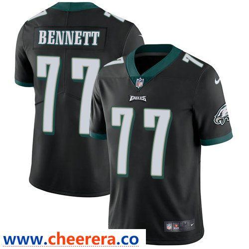 new concept 739a4 75dee Nike Philadelphia Eagles #77 Michael Bennett Black Alternate ...