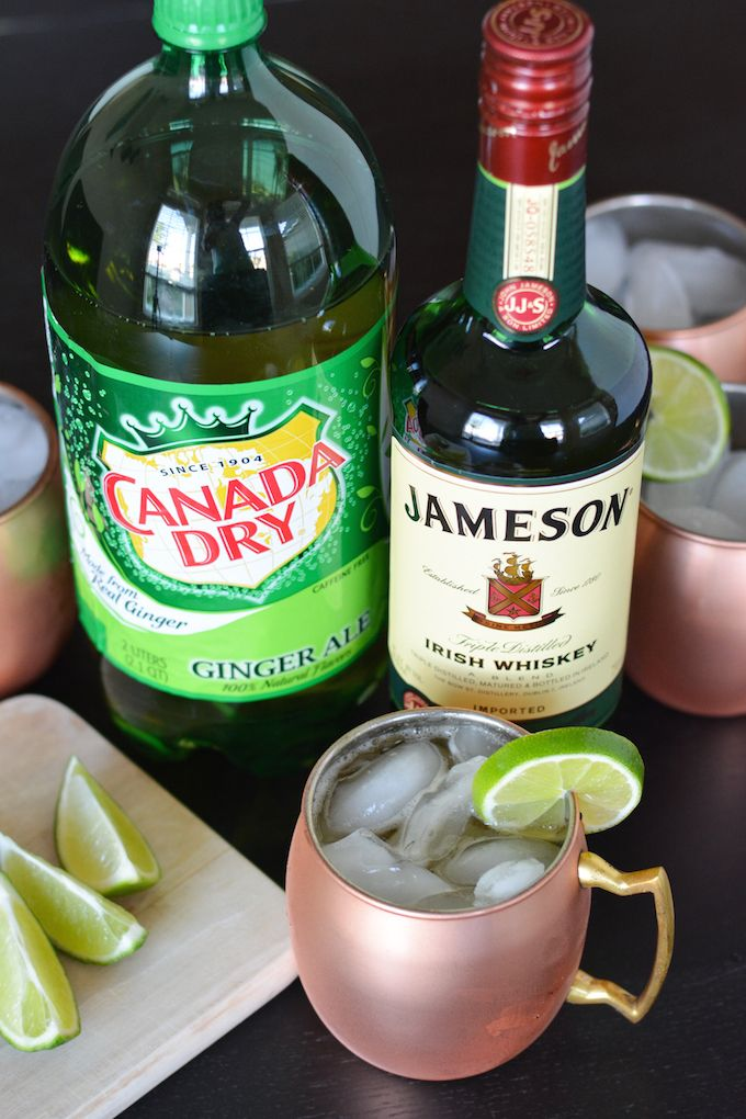 This Irish Mule cocktail combines Irish whiskey, ginger ale and lime for a fun twist on the classic Russian cocktail. Serve it in copper mugs to keep it icy cold! #sponsored