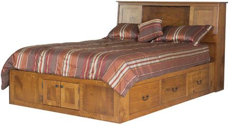 You'll save on every piece of furniture at Amish Outlet Store! We custom make every item, and you can get the London Pedestal Bed in Cherry with any wood and stain.